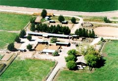 Arial shot of Menoken Farms